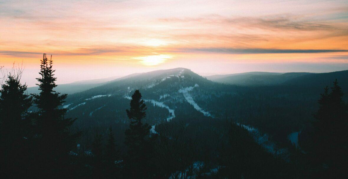 Mountain Scene at Sunrise